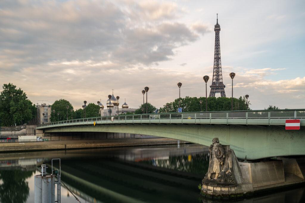 The Pont De L'Alma bridge in Paris, France.