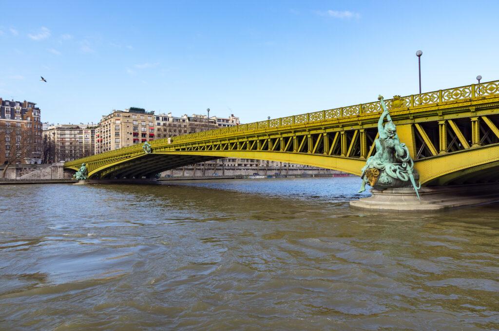 The Pont Mirabeau bridge in Paris, France.