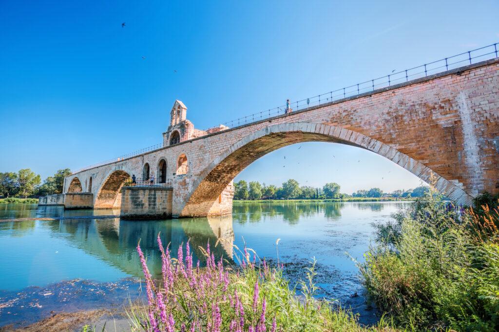 The Pont Saint-Benezet bridge in Avignon.