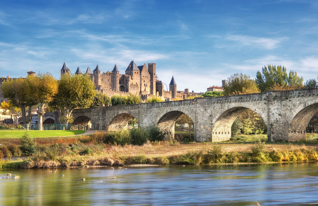 The Pont Vieux in Carcassonne, France.
