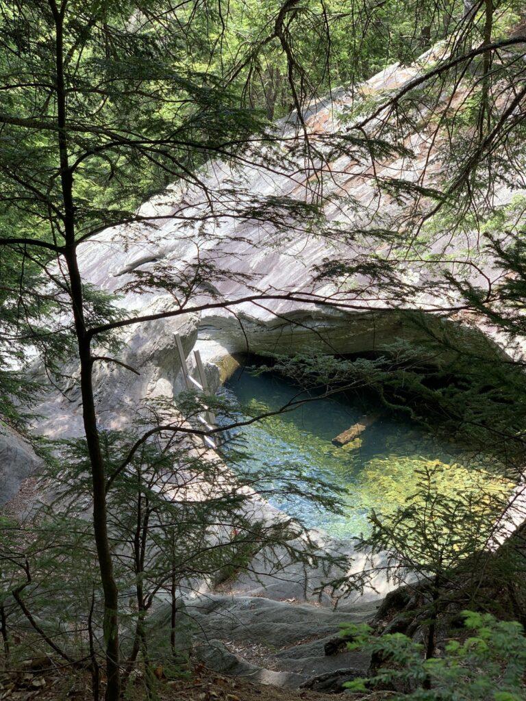 The pool along Hamilton Falls Trail.