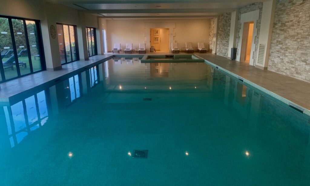The pool at Chais Monnet Spa.