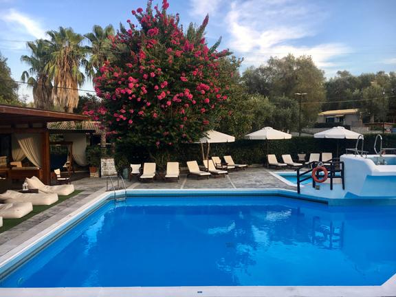 The pool at Paxos Club Resort.