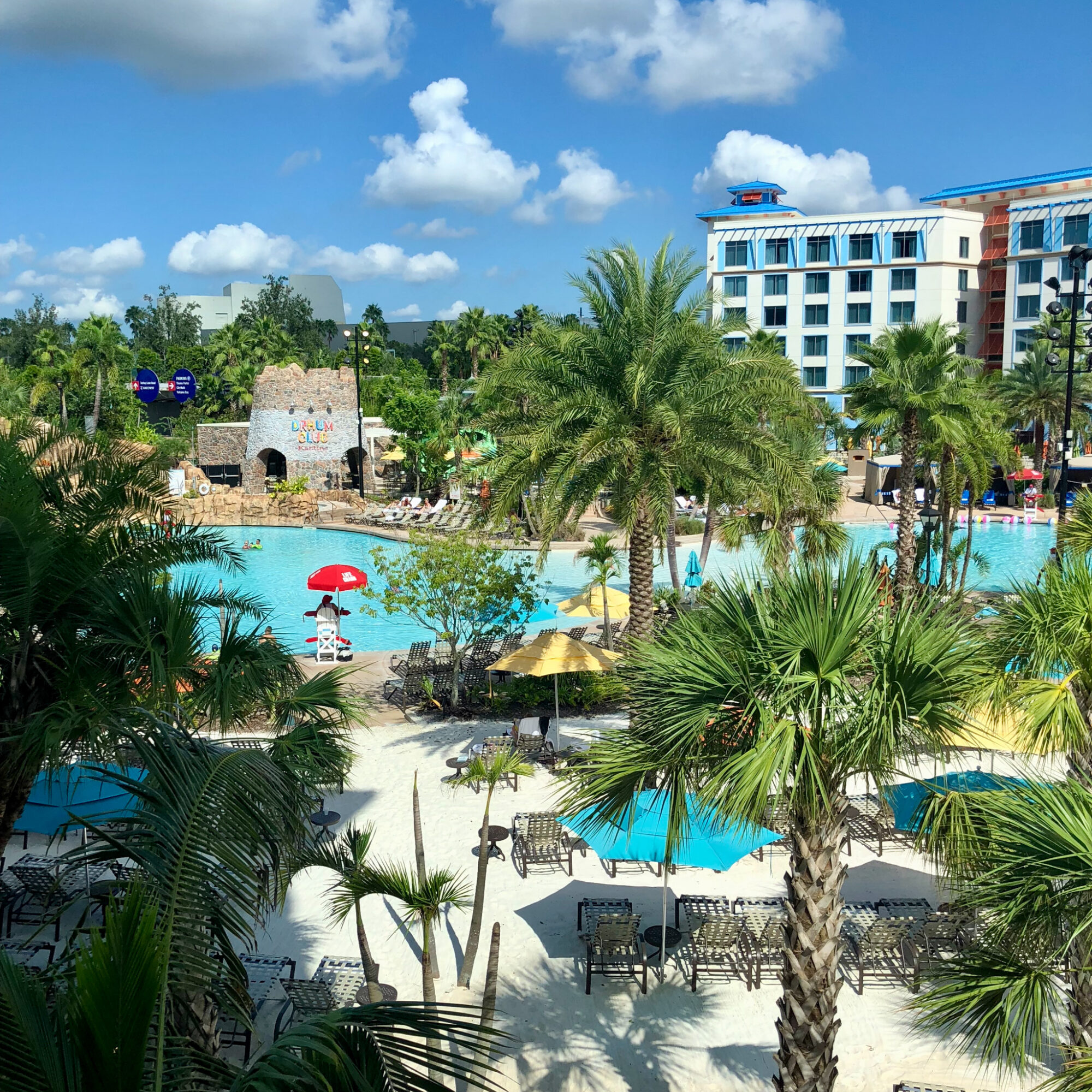 The pool at Sapphire Falls Resort.