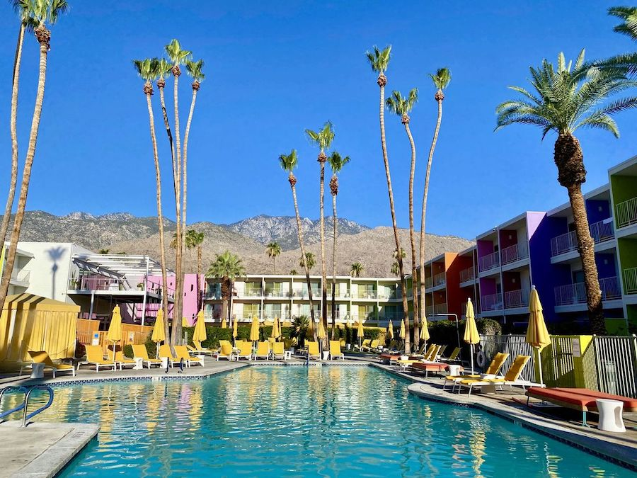 The pool at The Saguaro hotel.