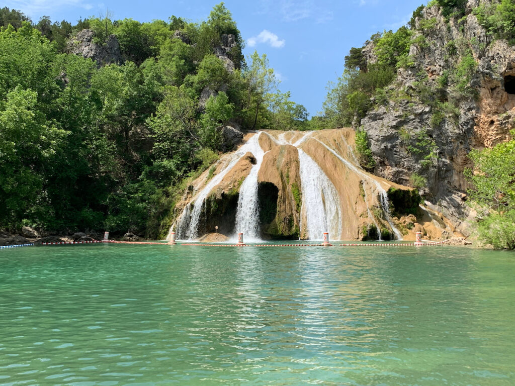 The pool at Turner Falls in Oklahoma.