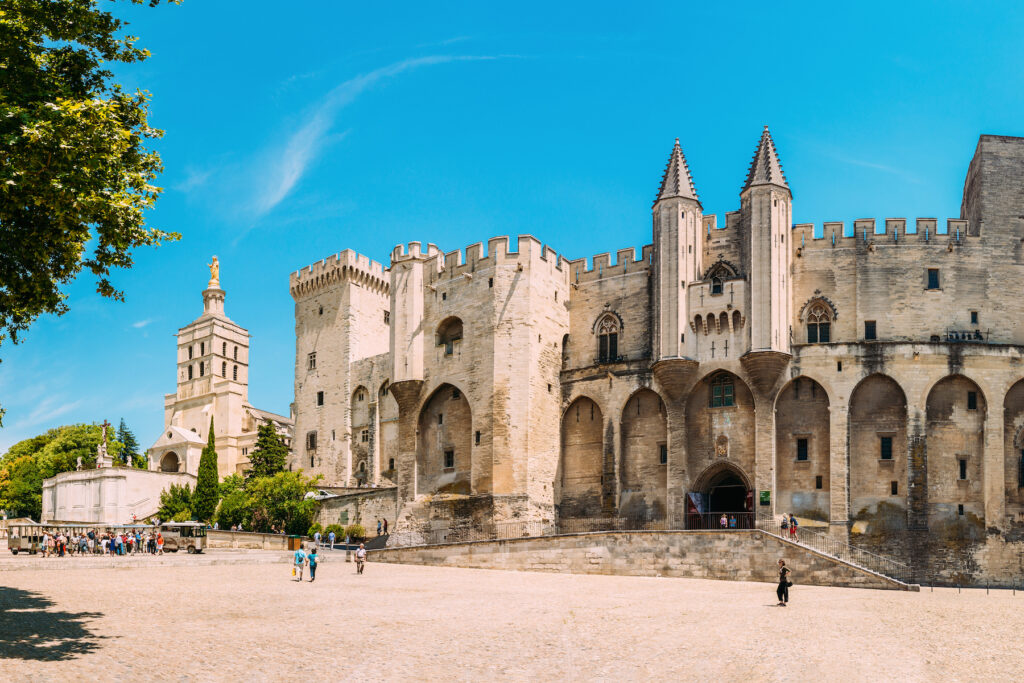 The Popes' Palace in Avignon, France.