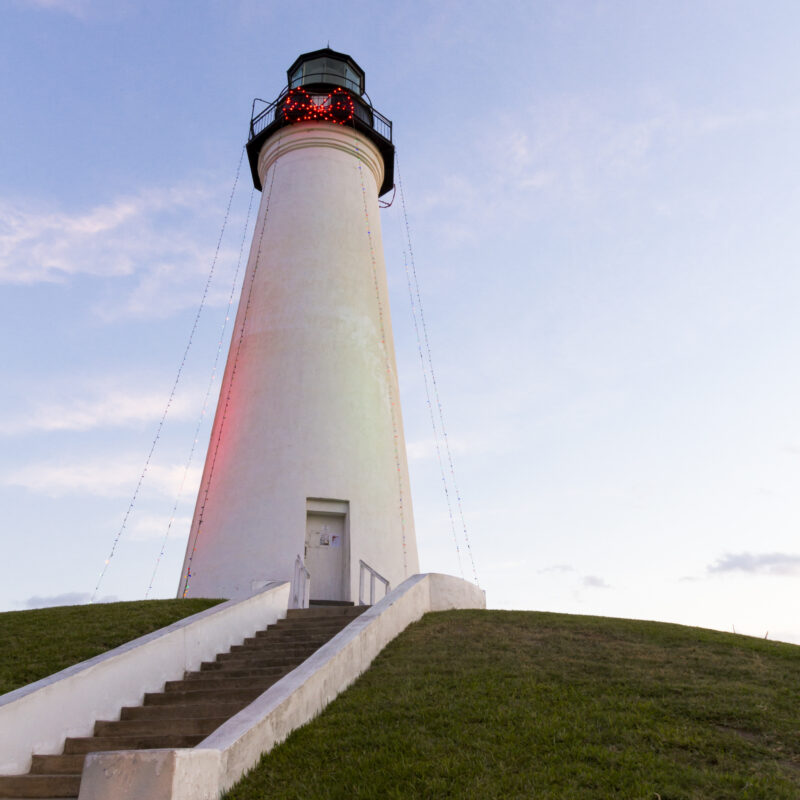 The Port Isabel Lighthouse near South Padre Island, Texas.