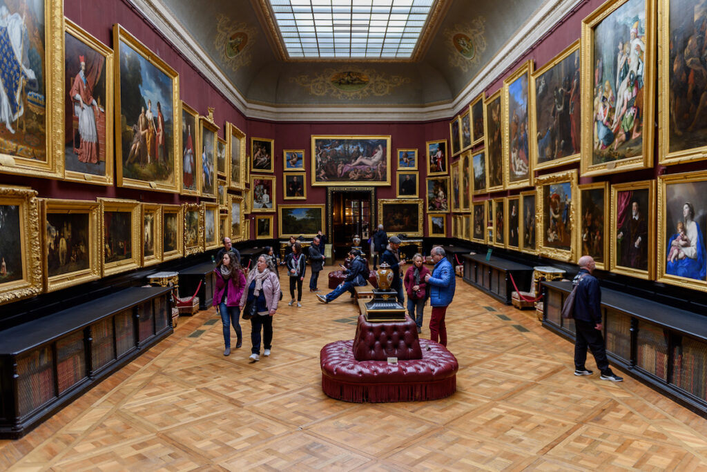 The portrait gallery at the Chateau de Chantilly.