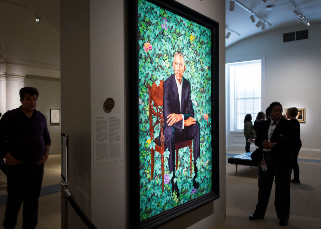 The portrait of President Obama in the National Portrait Gallery.