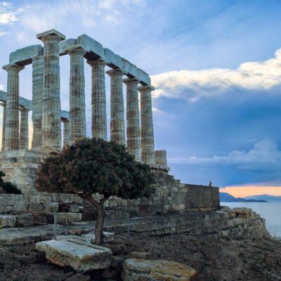 The Poseidon Temple in Greece.
