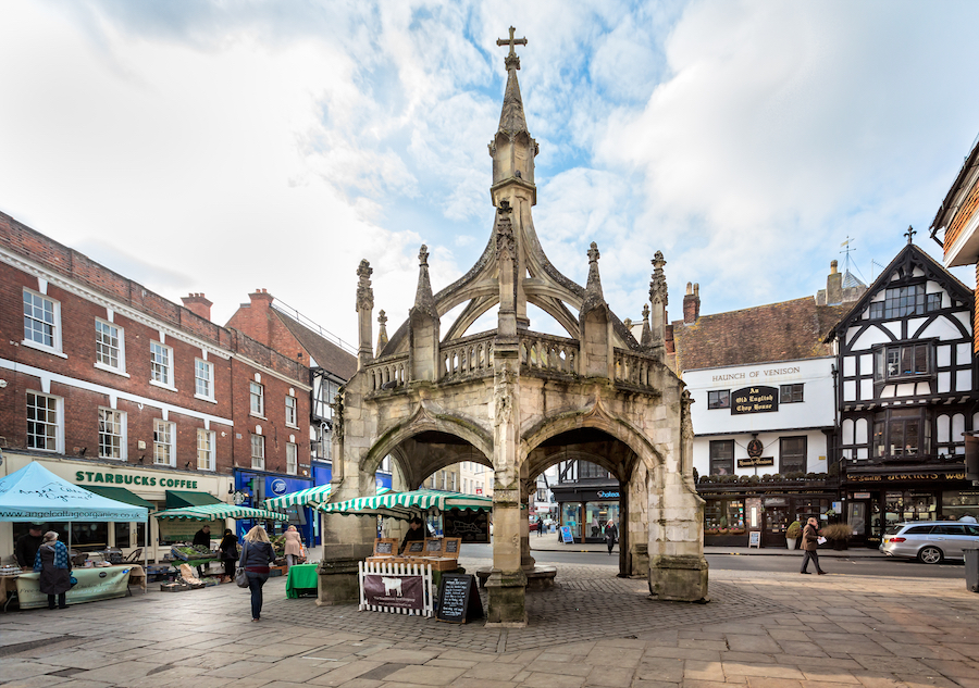 The Poultry Cross in Salisbury's Medieval Market.