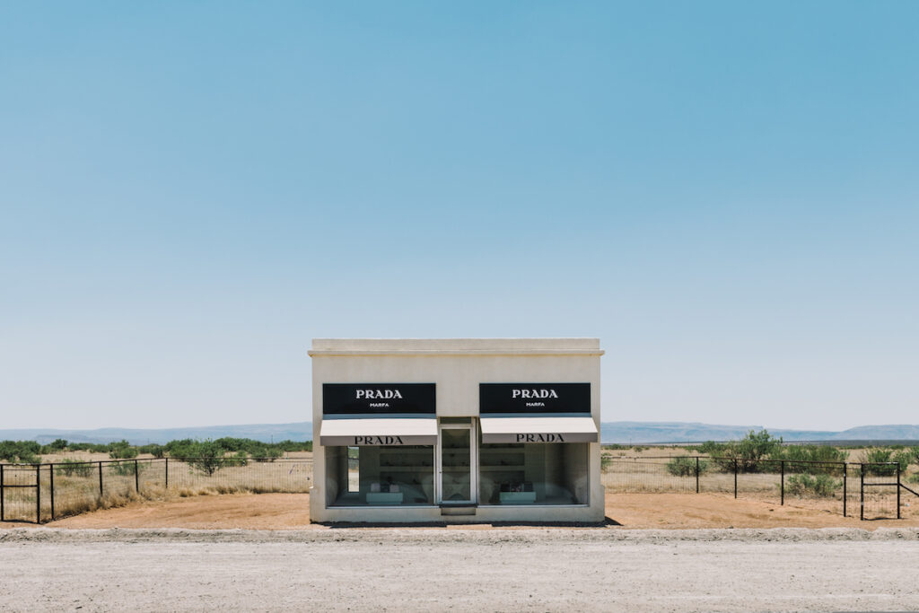 The Prada Marfa in Texas.