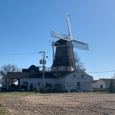 The Prairie Mill's Windmill in Golden, Illinois.