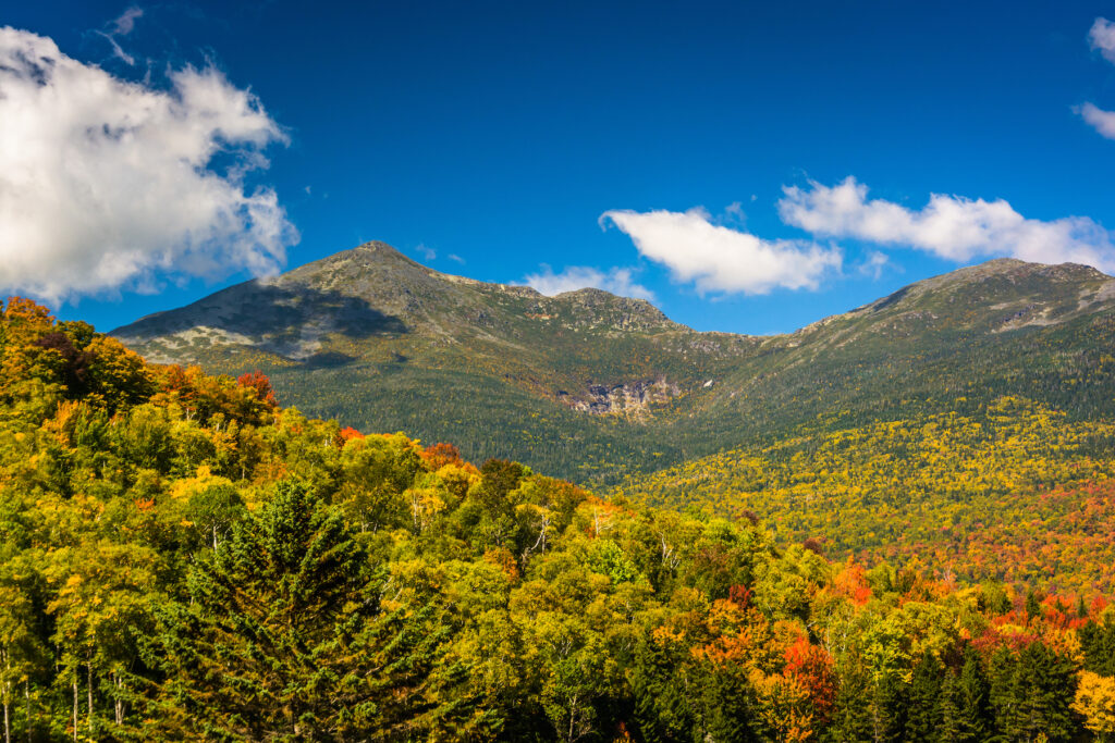 The Presidential Mountains in New Hampshire.