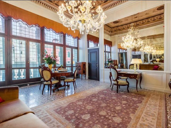 The presidential suite of the Nani Moncenigo Palace, Venice