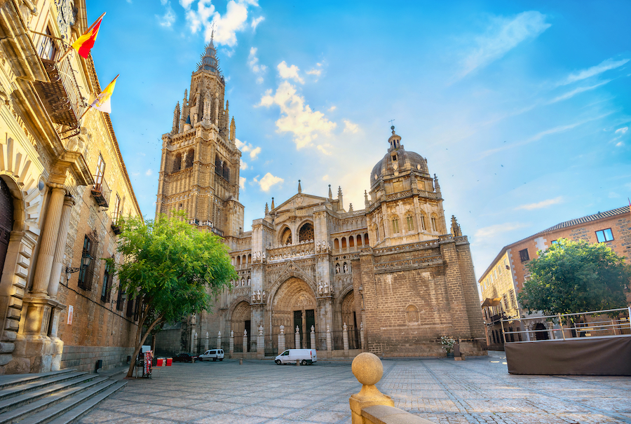 The Primate Cathedral of Saint Mary in Toledo, Spain.