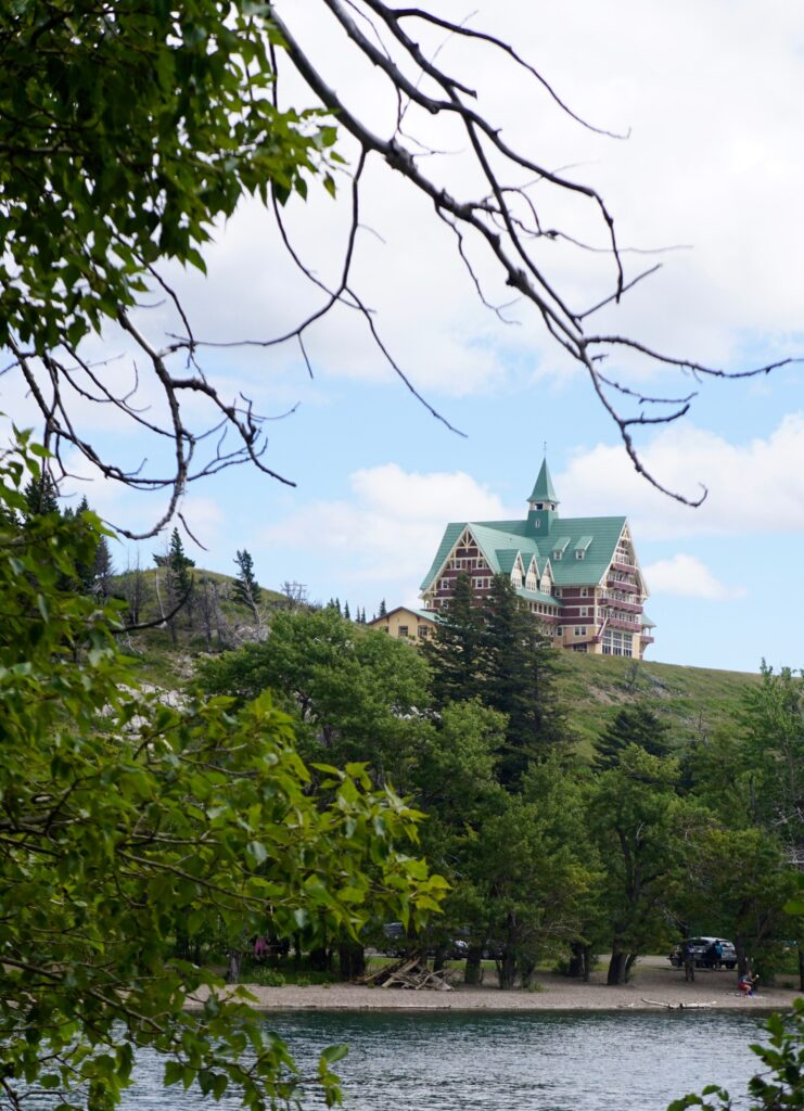 The Prince of Wales Hotel in Waterton Lakes National Park.