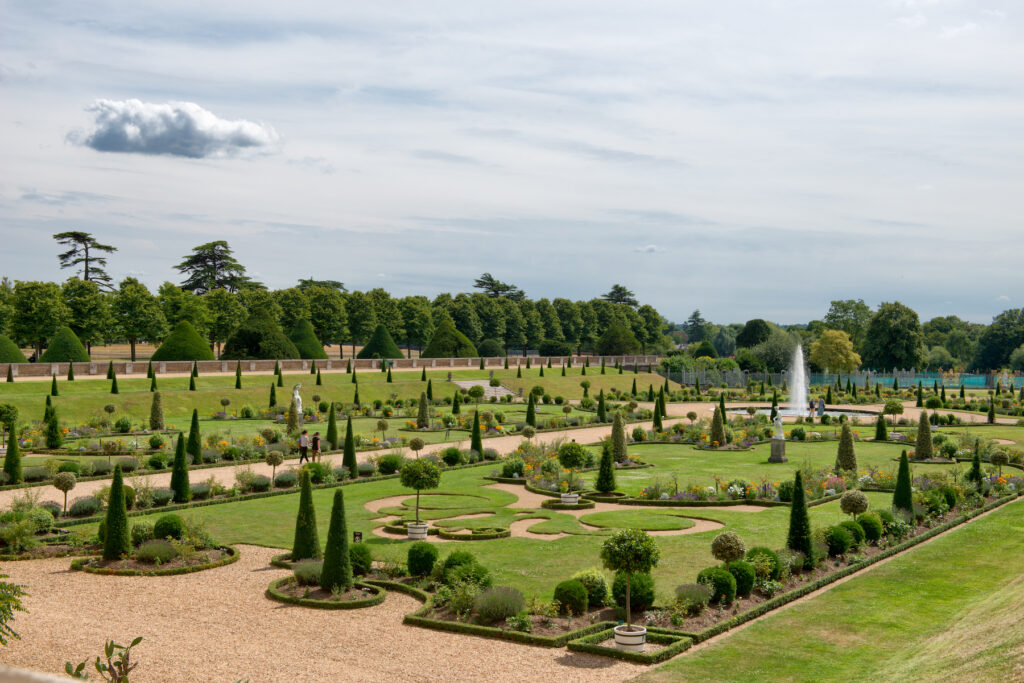 The Privy Garden of King William III at Hampton Court Palace.