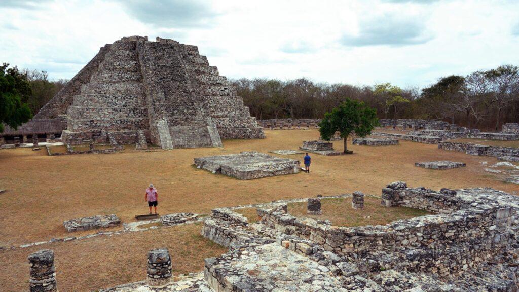 The pyramid at Mayapan.