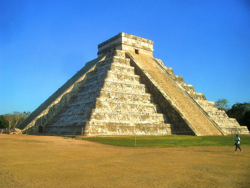 The Pyramid of Kukulcan in Chichen Itza.