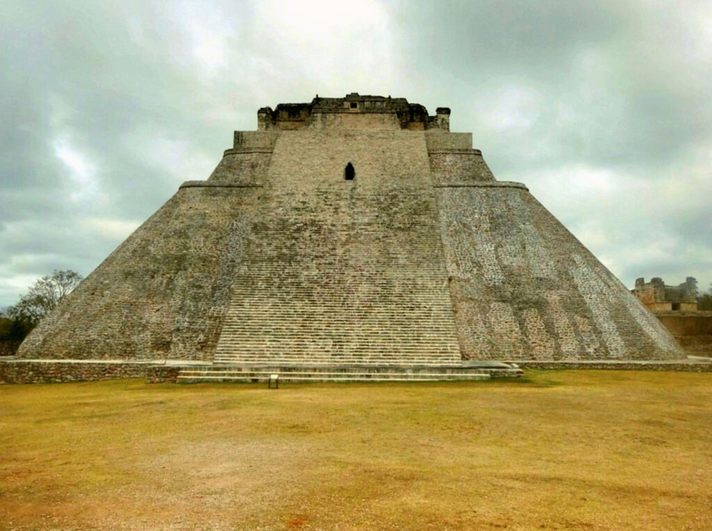 The Pyramid of the Magician in Uxmal.