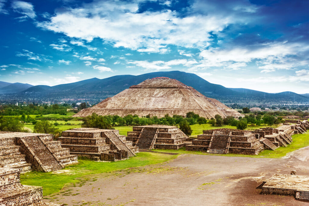The Pyramids Of Teotihuacan in Mexico City.
