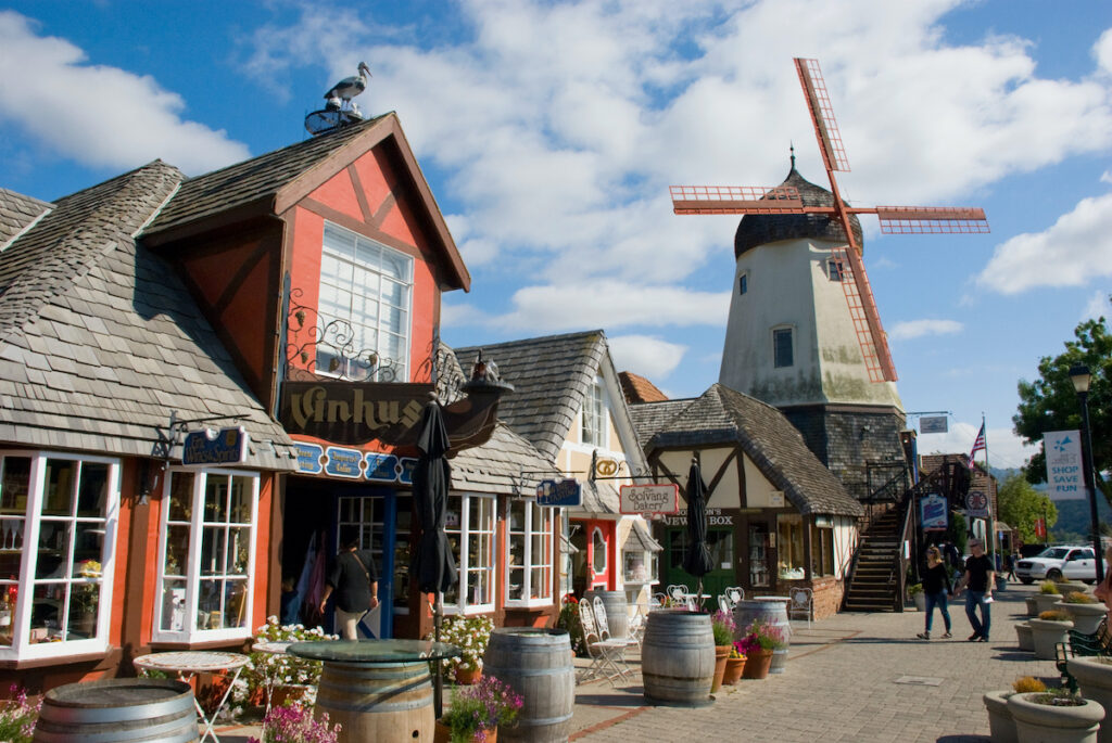 The quaint Dutch town of Solvang, California.