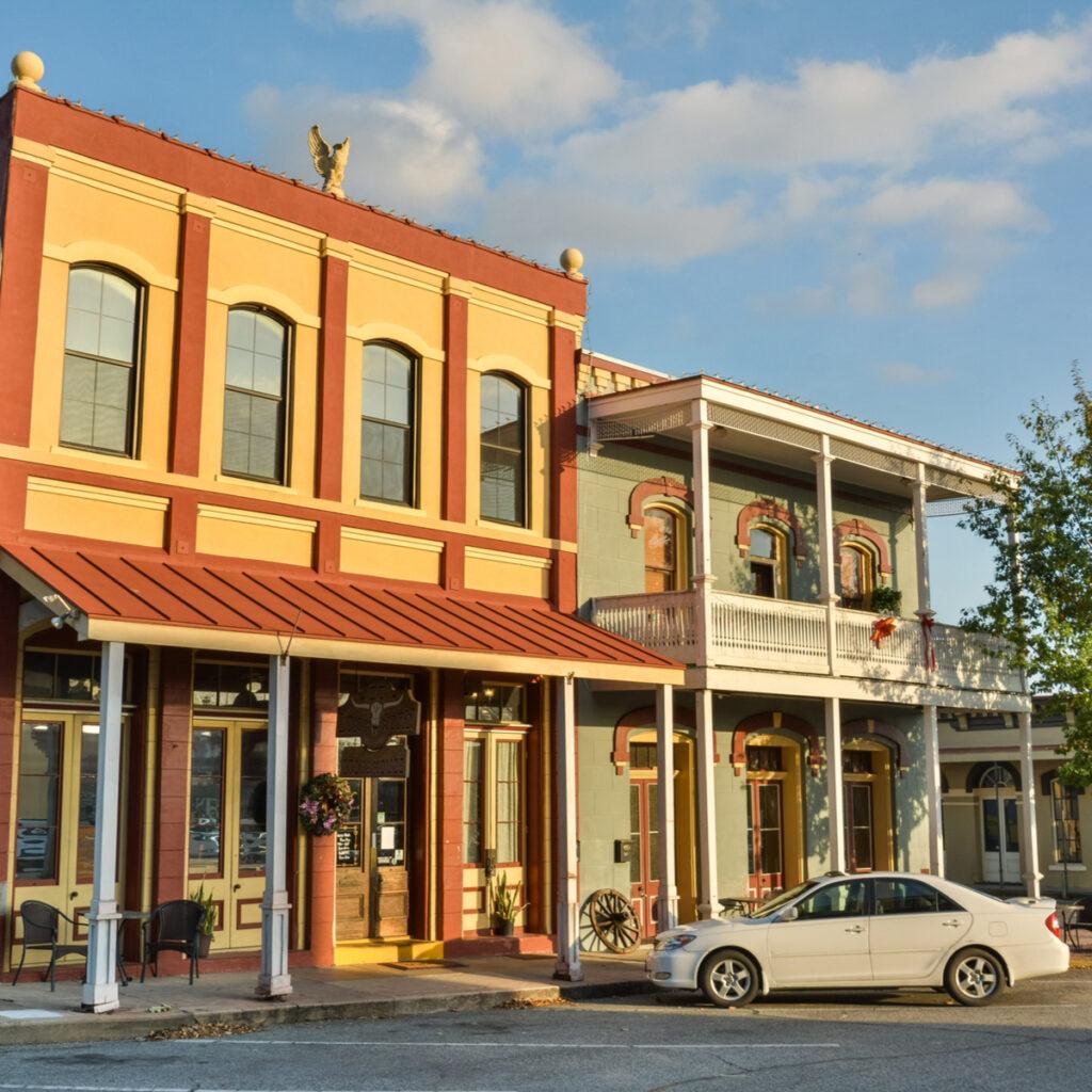 The quaint town of Brenham, Texas.