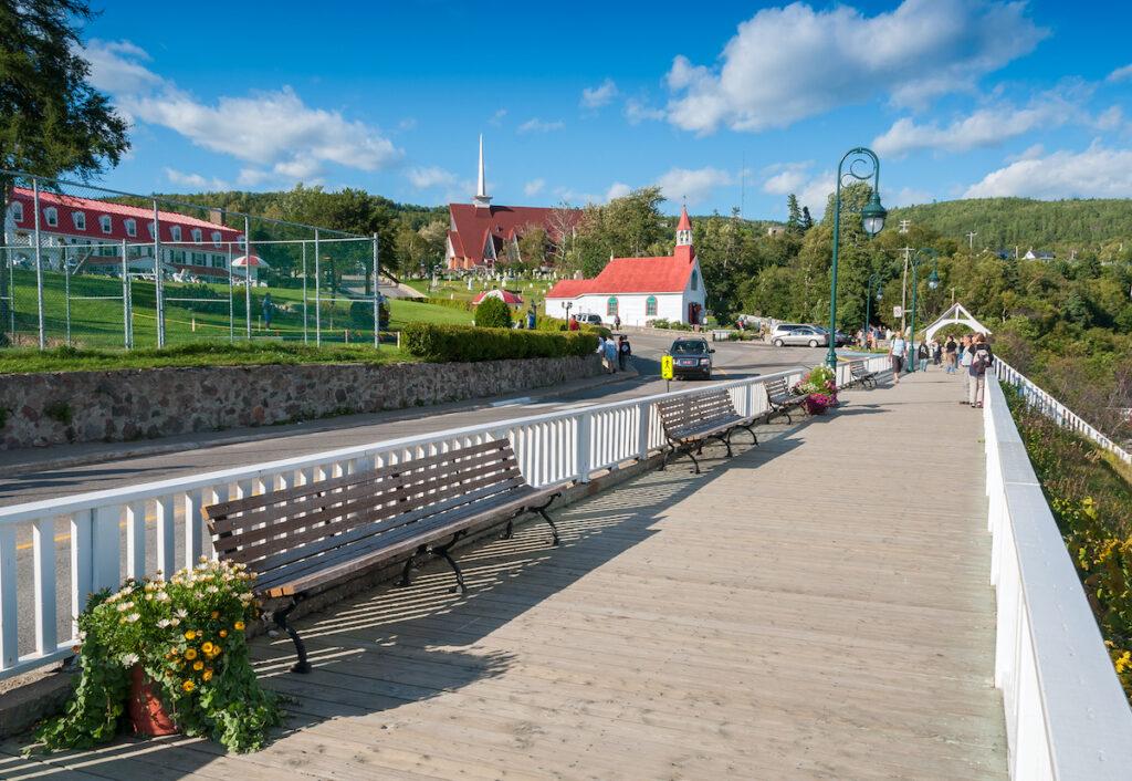 The quaint town of Tadoussac in Quebec, Canada.