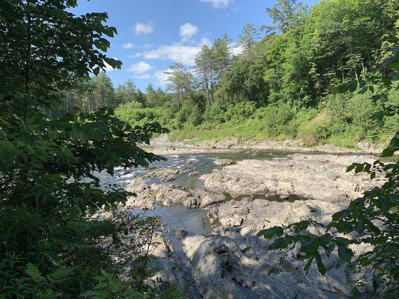 The Quechee Gorge Dewey Pond Trail in Vermont.