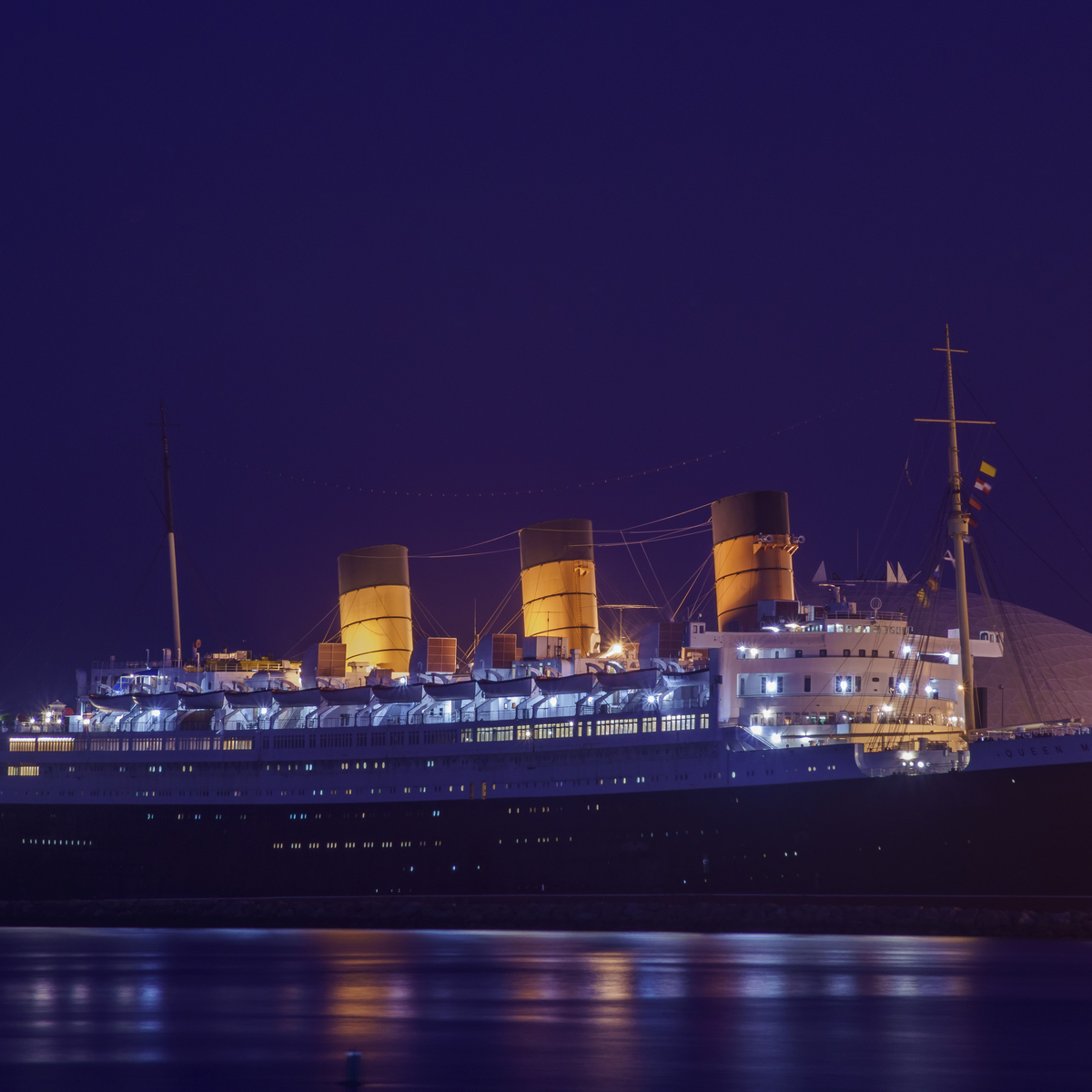 The Queen Mary in Long Beach, California.