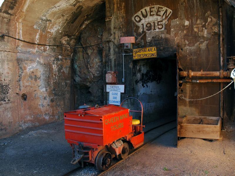 The Queen Mine Tour in Bisbee, Arizona.