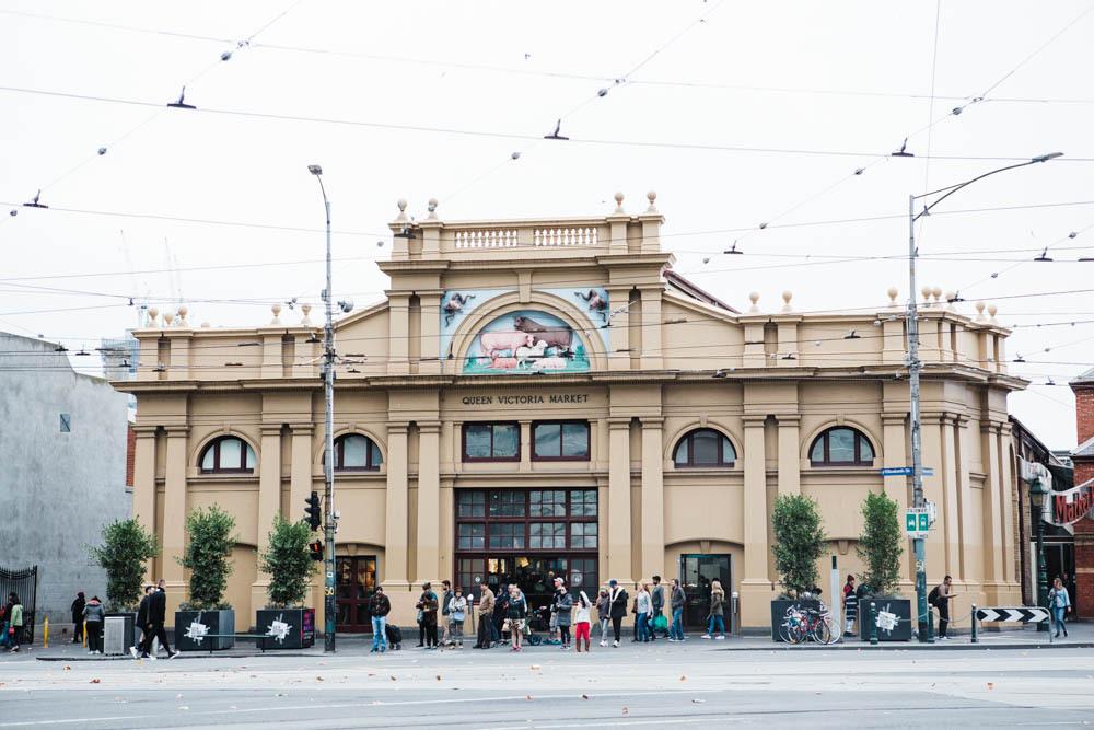 The Queen Victoria Market in Melbourne.