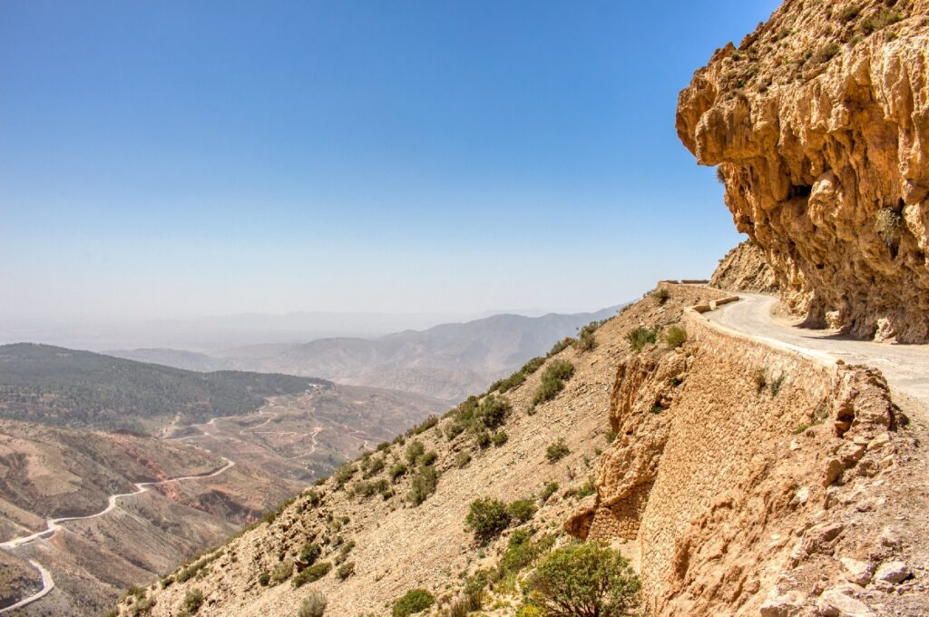 The R203 road in Morocco.
