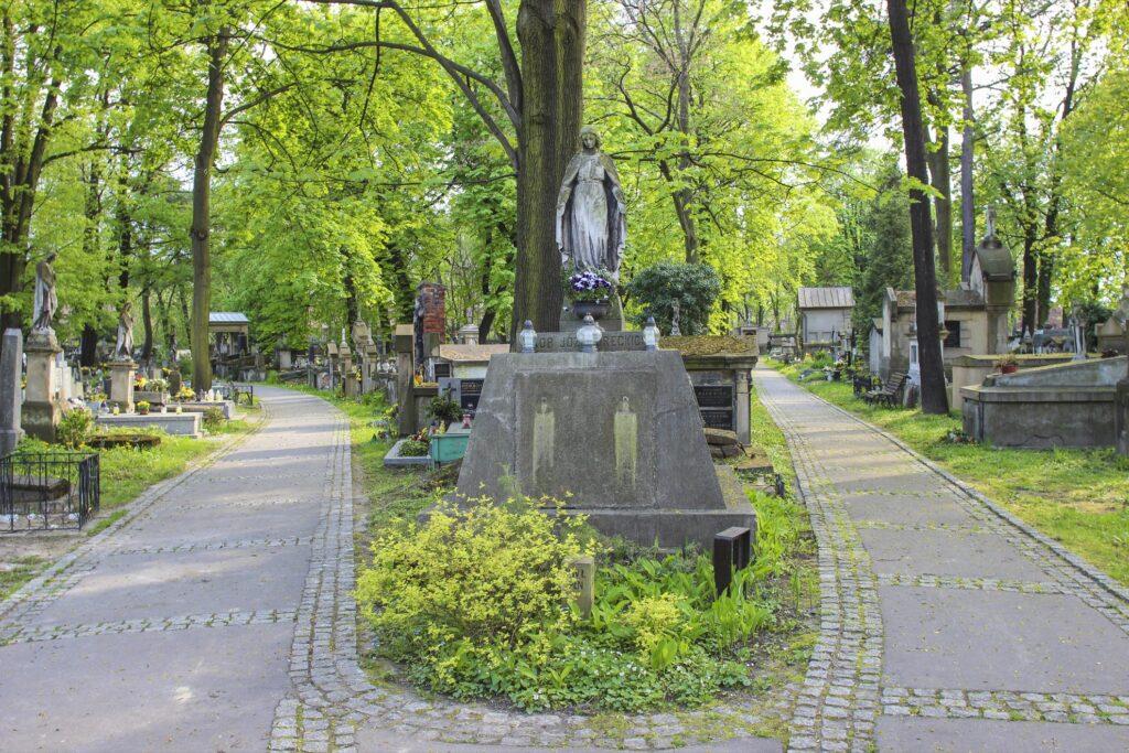 The Rakowicki Cemetery in Krakow, Poland.