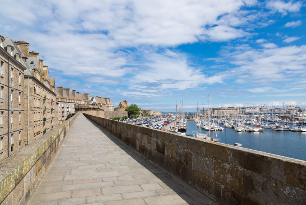 The ramparts of Saint-Malo, France.