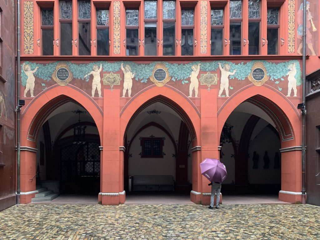 The Rathaus in Basel, Switzerland.