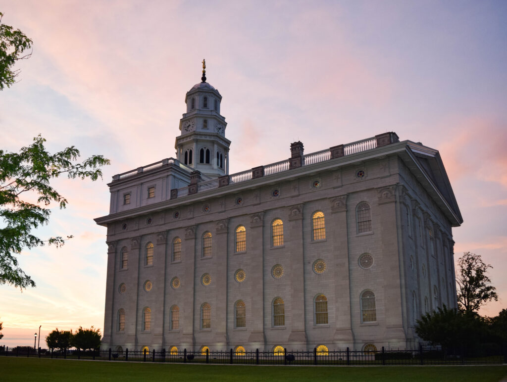 The rebuilt LDS temple in Nauvoo, Illinois.