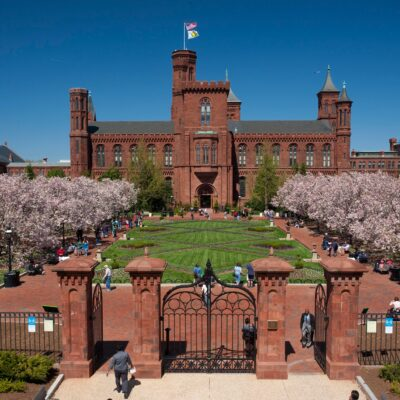 The red-brick exterior of Haupt Garden.
