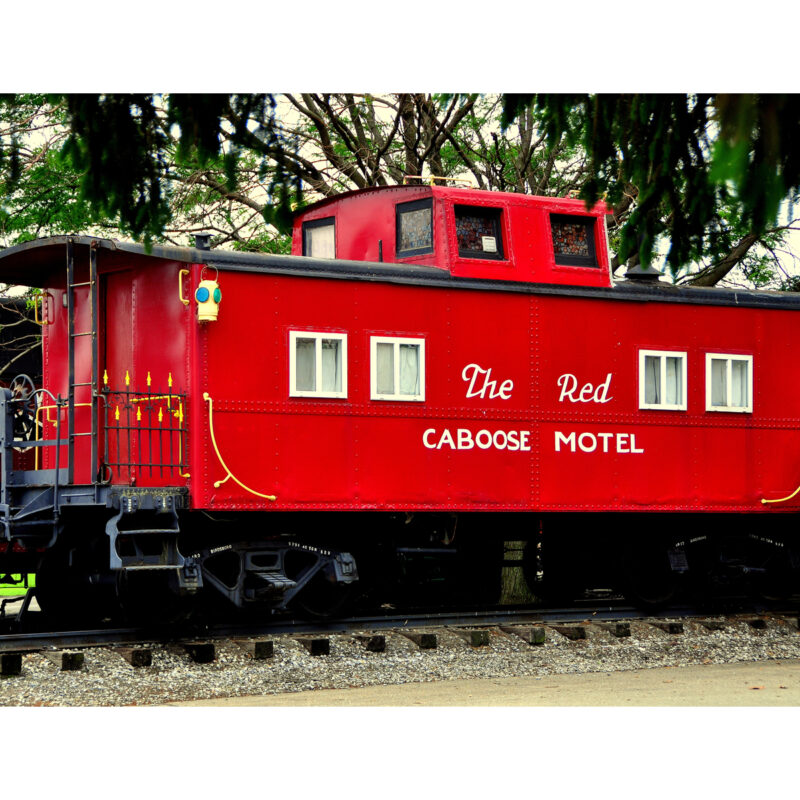 The Red Caboose Motel in Pennsylvania.