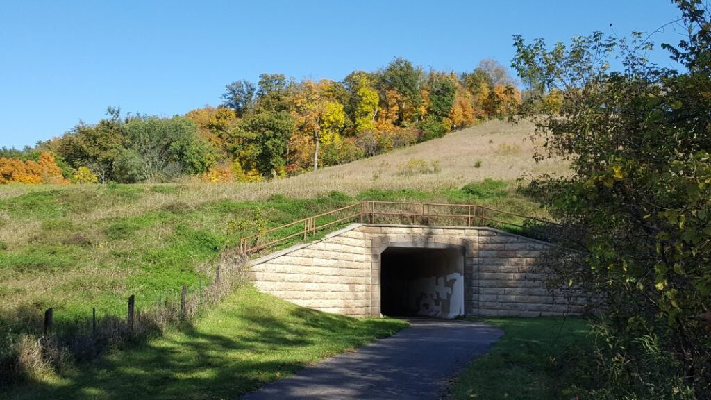 The Red Jacket Trail in Mankato, Minnesota.