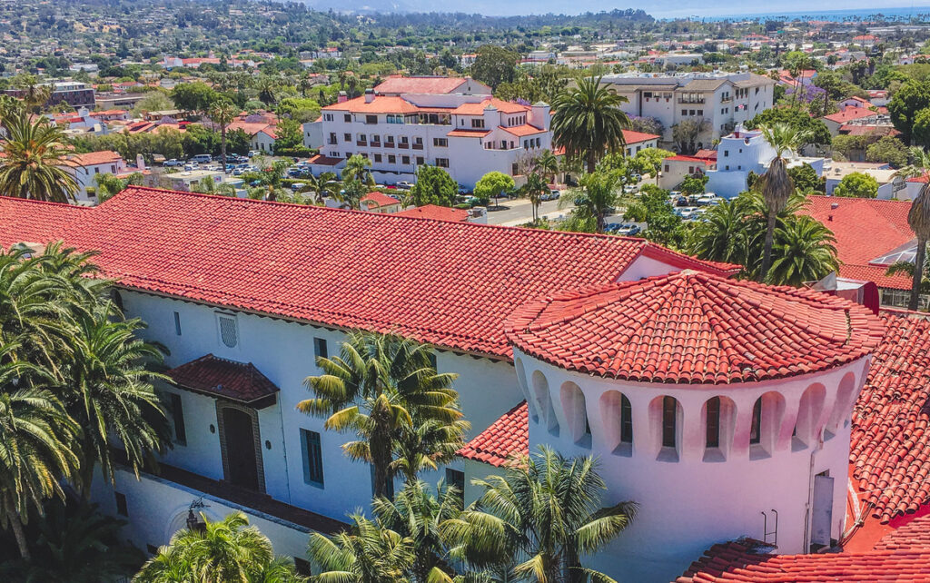 The Red Tile Tour in Santa Barbara, California.