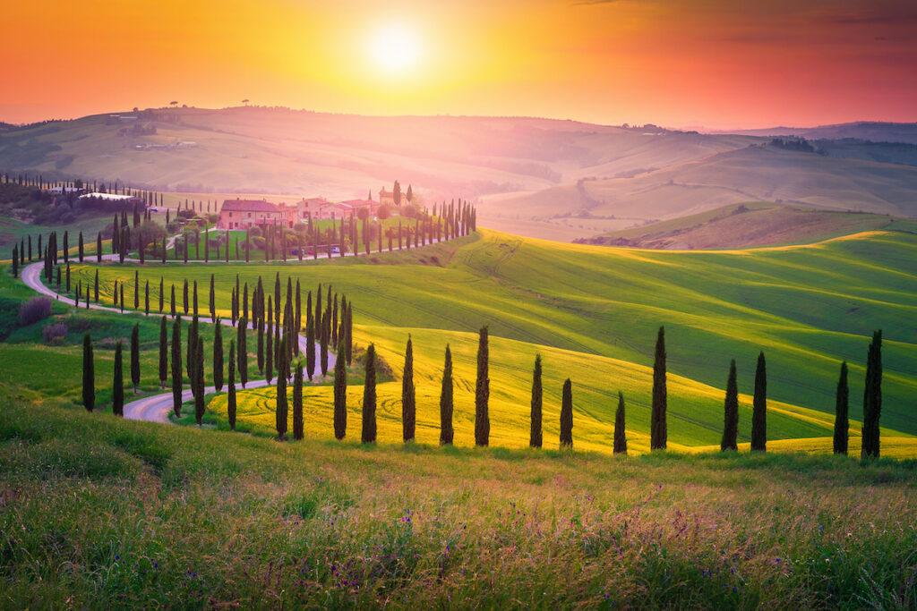 The region of Tuscany in Italy.