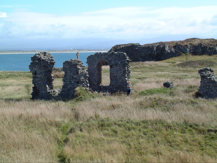 The remains of St. Dwynwen's church