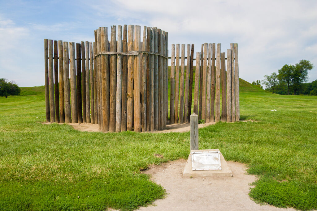 The remains of the Stockade wall near Monks Mound.