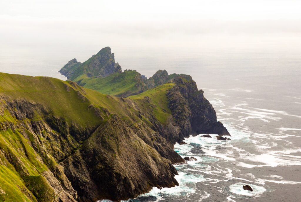 The remote cliffs of Hirta.
