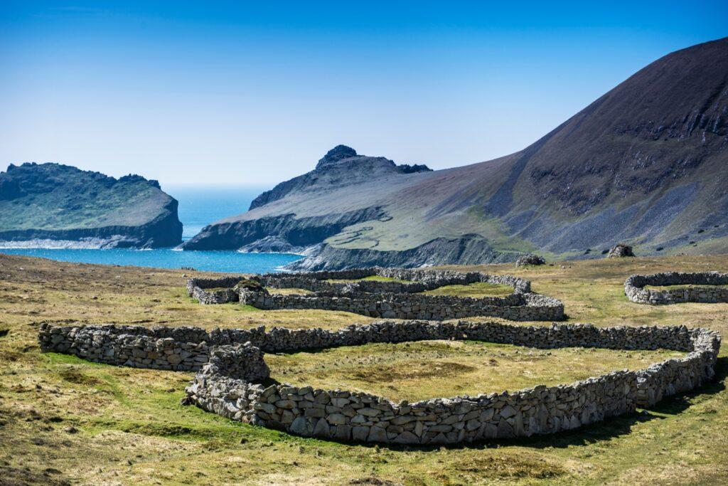 The remote island of Hirta in Scotland.
