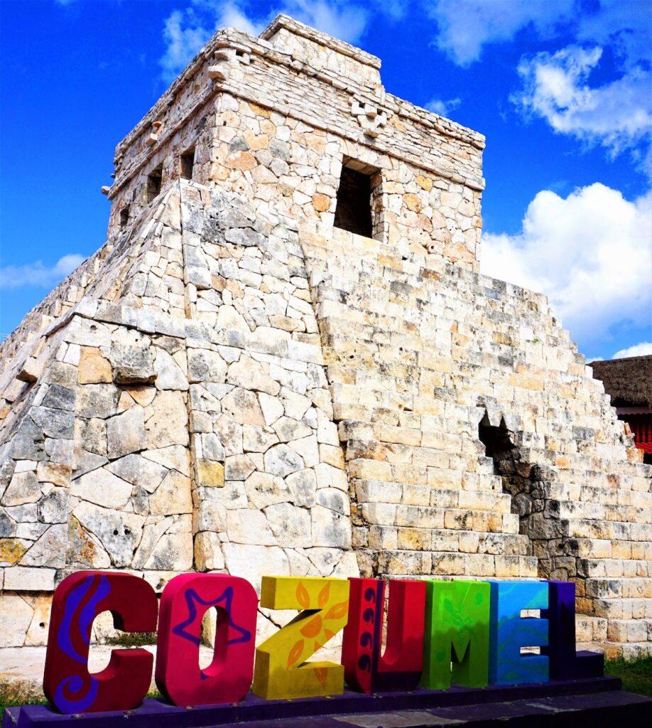 The replica of Chichen Itza in Cozumel.