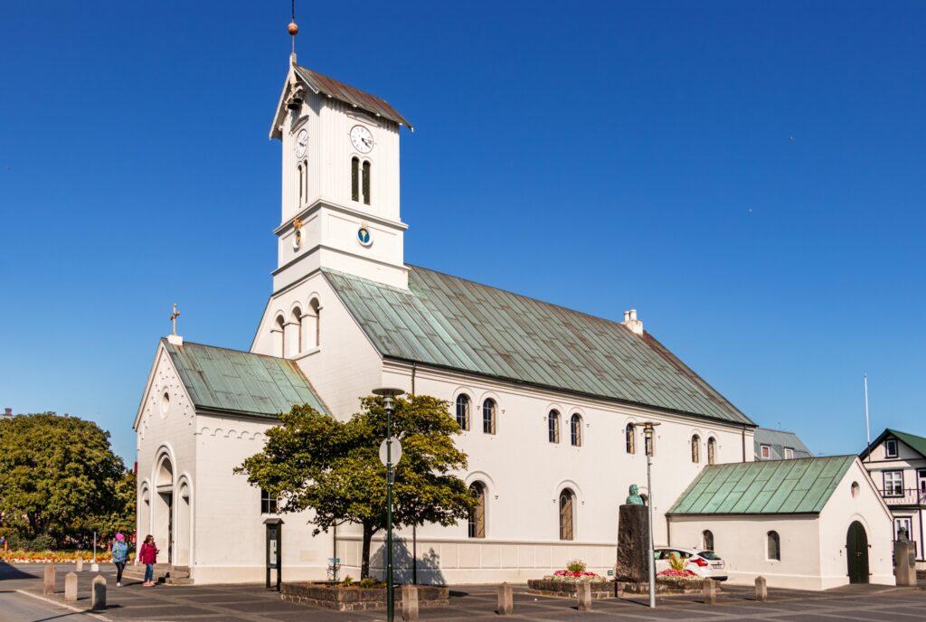 The Reykjavik Domkirkjan Cathedral in Iceland.